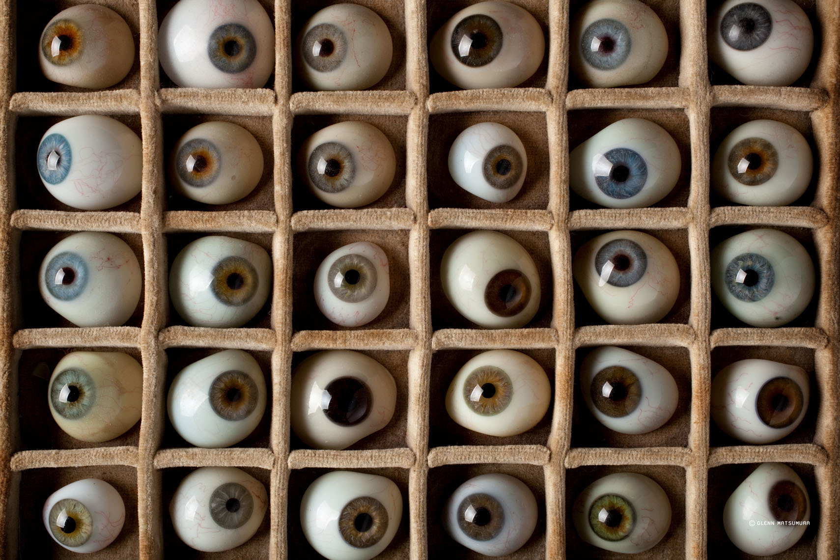 Vintage optometrist glass eyes
