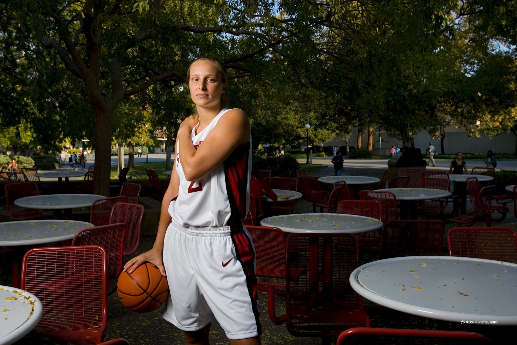 Krista Rappahahn, Stanford basketball outside Tressider