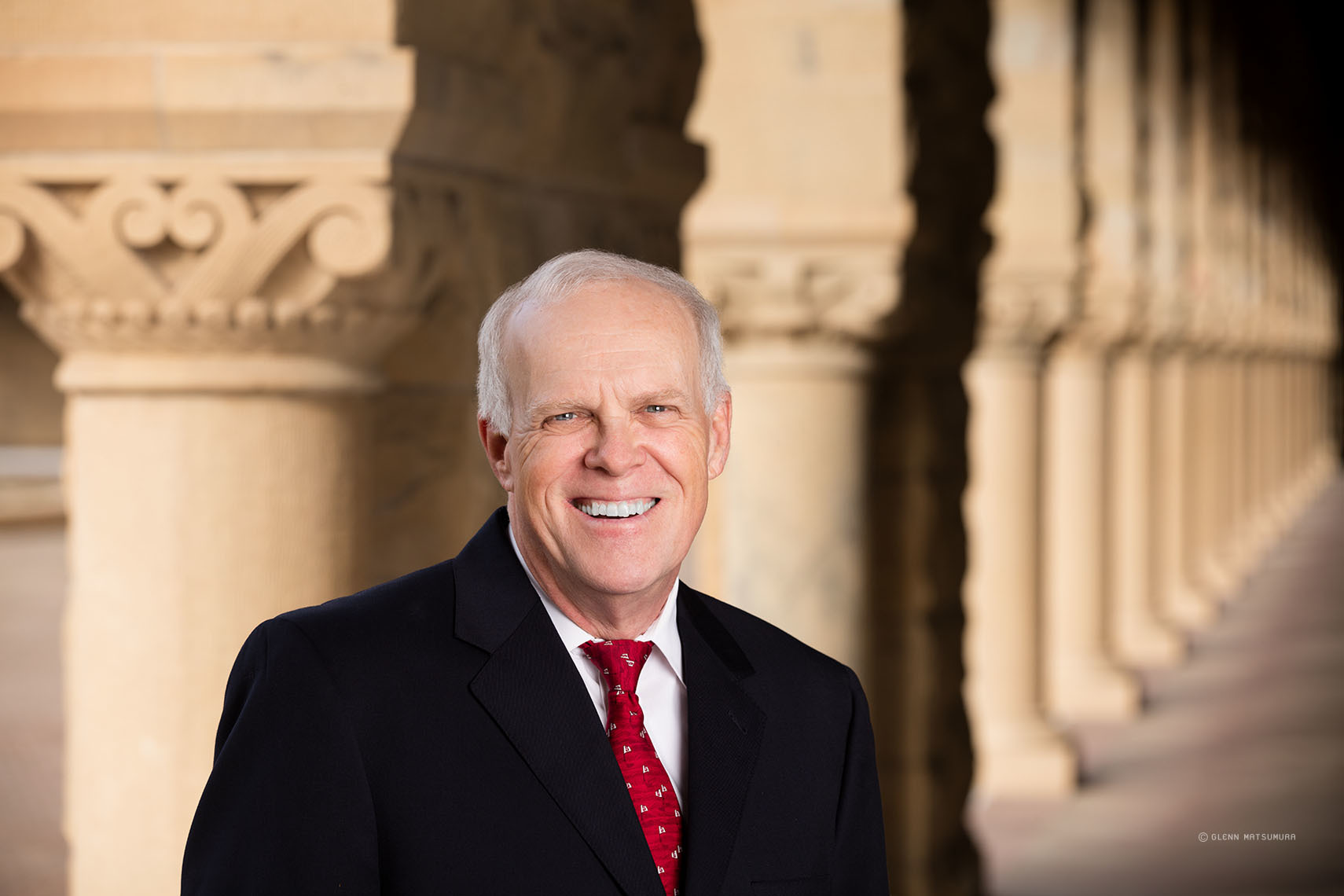 Stanford President John L. Hennessy photographed at the Stanford