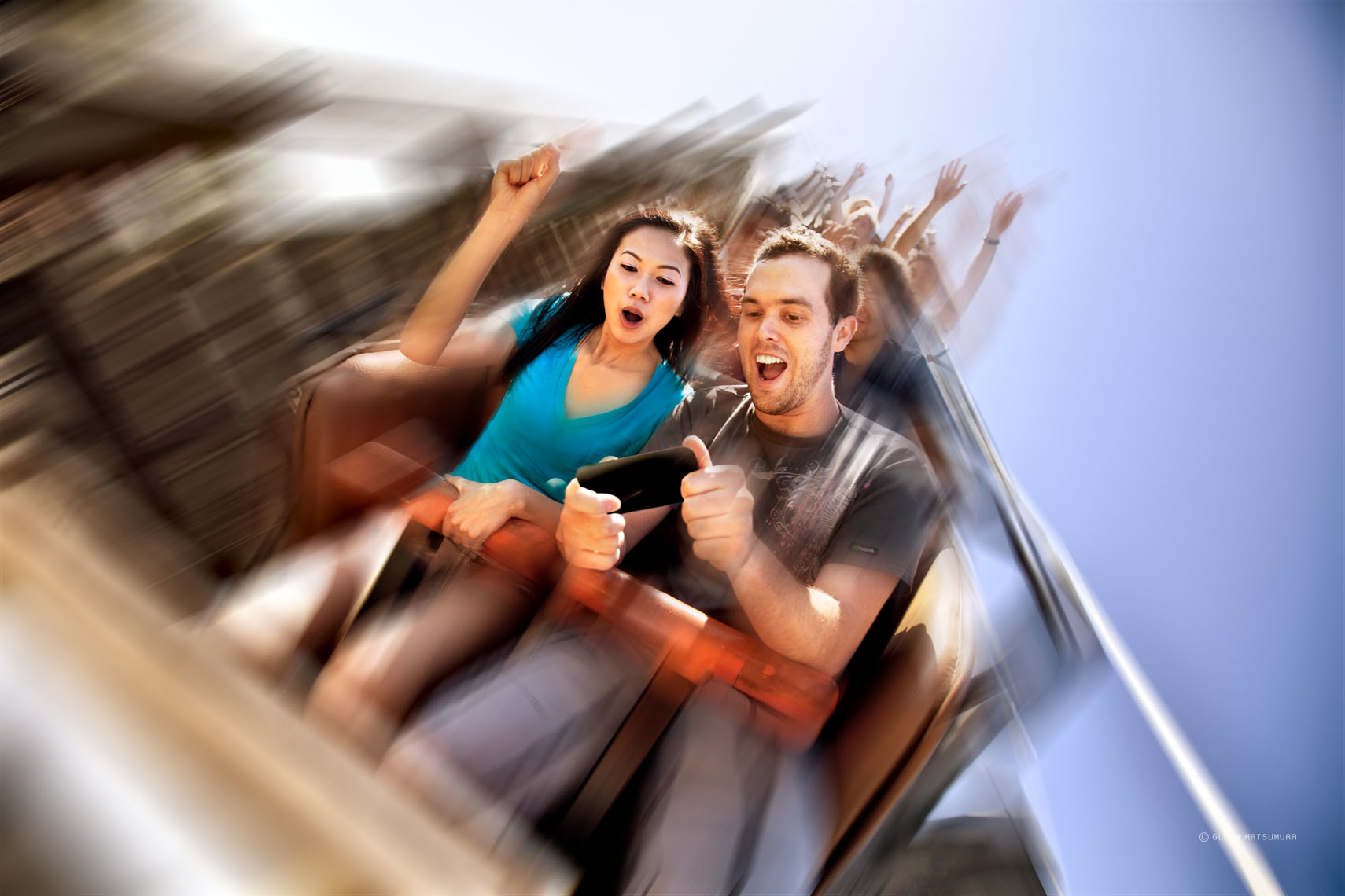 Roller coaster ad image for nVidia